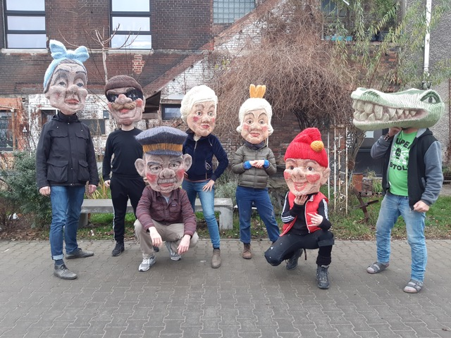 """Maskenbau für das Theater Bielefeld """"Paradies Reloaded"""""""